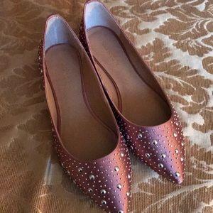 New Blush Pink w Silver Flats Sole Society sz 8